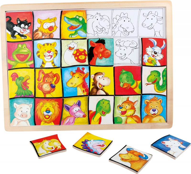 Puzzle Holz Tiere 39x29x1